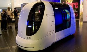 'The Pod Car' A Driverless Vehicle Which Is Being Showcased At T